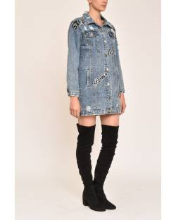 DENIM JACKET WITH EMBROIDERIES 12CPT566