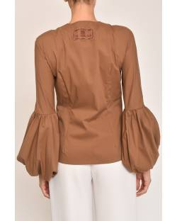 SHIRT WITH BALLOON SLEEVES 12XPT916