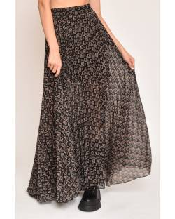 PLEATED MAXI SKIRT 12XPT944