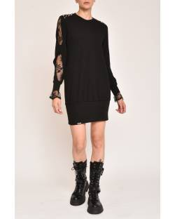KNITTED DRESS WITH STUDS ON THE SHOULDERS 12XPT955